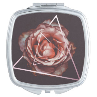 Dark rose mirror for makeup