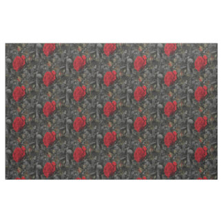 dark roses Fabric, colorful house textile Fabric