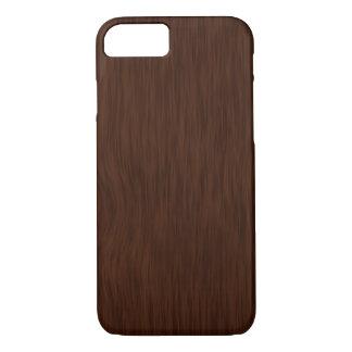 Dark Rough Wood Grain Background iPhone 8/7 Case