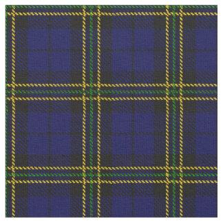 Dark Royal blue, green, yellow,gold stripe plaid Fabric