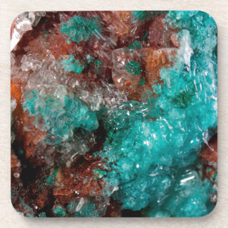 Dark Rust & Teal Quartz Coaster