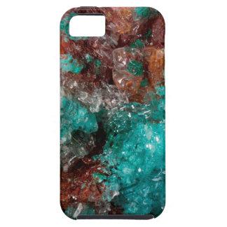 Dark Rust & Teal Quartz iPhone 5 Covers