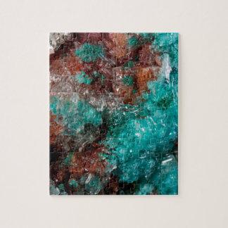 Dark Rust & Teal Quartz Jigsaw Puzzle