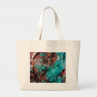 Dark Rust & Teal Quartz Large Tote Bag