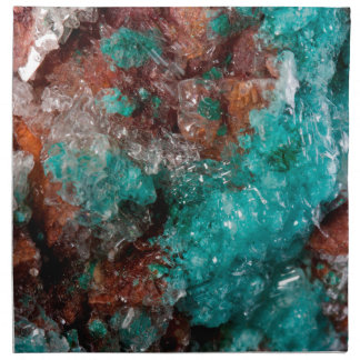 Dark Rust & Teal Quartz Napkin