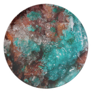 Dark Rust & Teal Quartz Plate