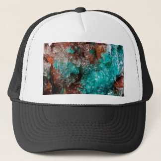 Dark Rust & Teal Quartz Trucker Hat