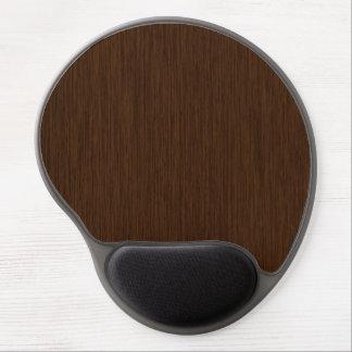 Dark Rustic Grainy Wood Background Gel Mouse Pad