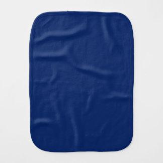 Dark Sapphire Solid Color Baby Burp Cloth