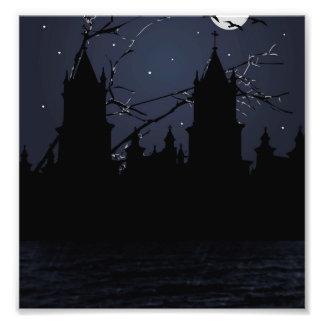 Dark Scene Illustration Print