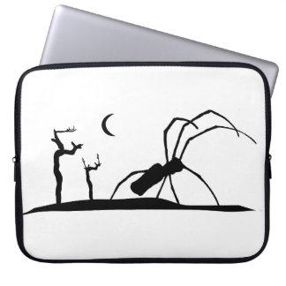 Dark Scene Silhouette Style Graphic Illustration Laptop Sleeve