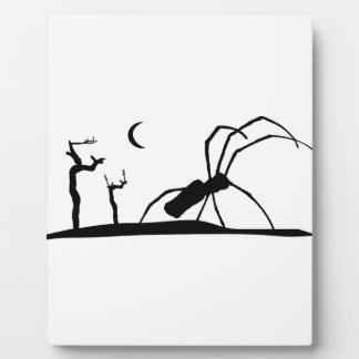 Dark Scene Silhouette Style Graphic Illustration Plaque