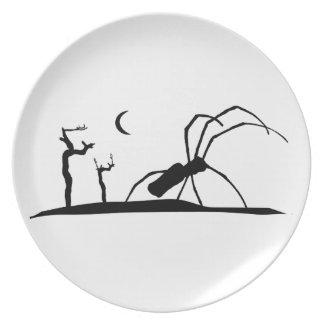 Dark Scene Silhouette Style Graphic Illustration Plate