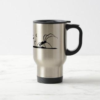 Dark Scene Silhouette Style Graphic Illustration Travel Mug