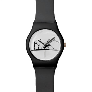 Dark Scene Silhouette Style Graphic Illustration Watch