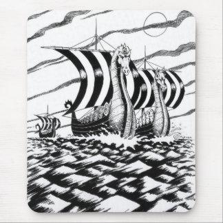 dark sea voyage mouse pad