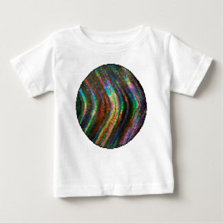 Dark Shiny Holographic Wave Pattern Pixel Baby T-Shirt