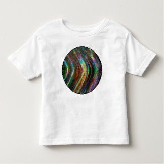 Dark Shiny Holographic Wave Pattern Pixel Toddler T-shirt