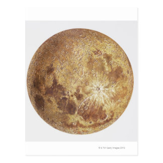 Dark side of the moon, illustration postcard