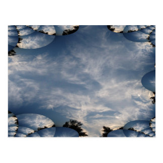 Dark Skies with A Fractal Trace Postcard