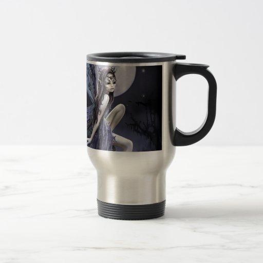 Dark Skull Fairy Coffee Mugs