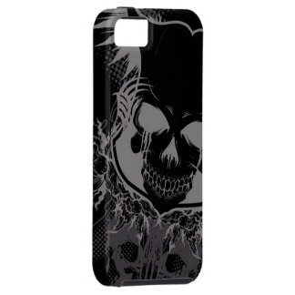 dark skull head abstract iPhone 5 cover