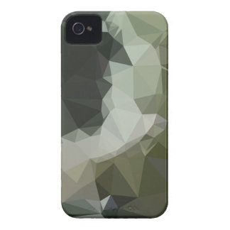 Dark Slate Gray Abstract Low Polygon Background Case-Mate iPhone 4 Cases