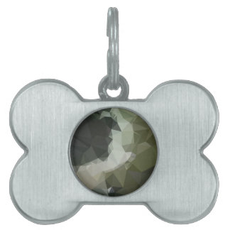 Dark Slate Gray Abstract Low Polygon Background Pet ID Tag