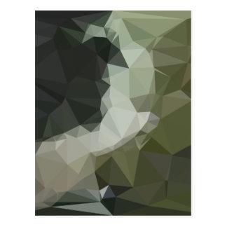 Dark Slate Gray Abstract Low Polygon Background Postcard