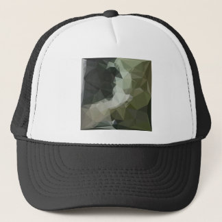 Dark Slate Gray Abstract Low Polygon Background Trucker Hat
