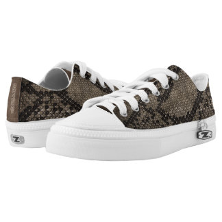 Dark Snake skin style Low Top Shoes