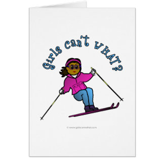 Dark Snow Skier Card
