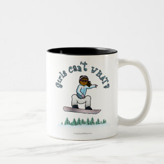 Dark Snowboarder Two-Tone Coffee Mug