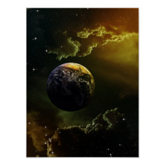 Dark Space Scene Poster