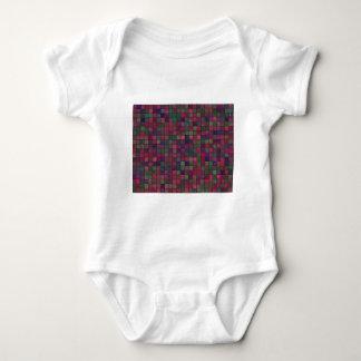 Dark squares baby bodysuit