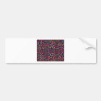 Dark squares bumper sticker