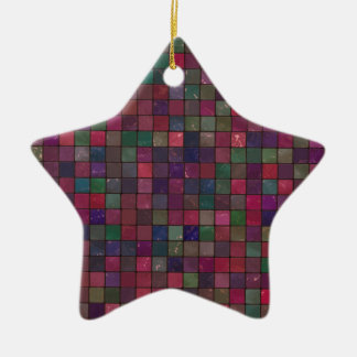 Dark squares ceramic ornament