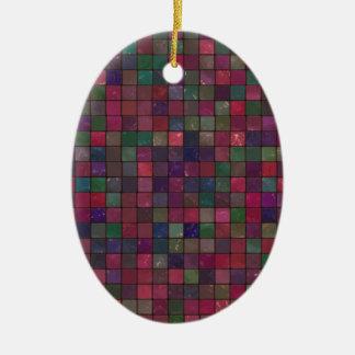 Dark squares ceramic ornament