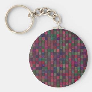 Dark squares keychain