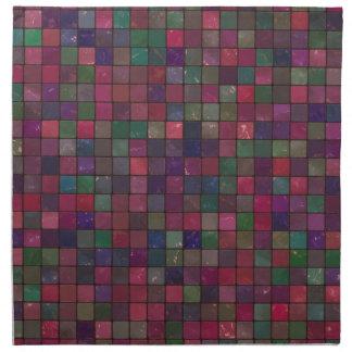 Dark squares napkin