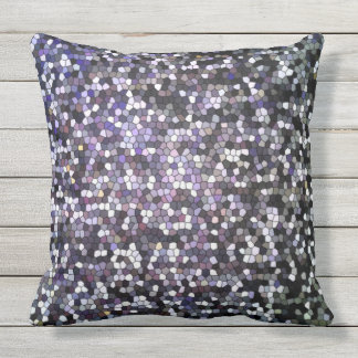 Dark Stained Glass Mosaic Design Cool Outdoor Pillow