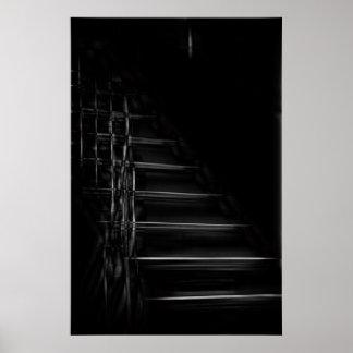 Dark stairs poster