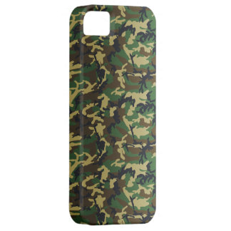 Dark Standard Woodland Camo Case For The iPhone 5