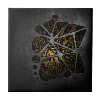 Dark steampunk cogwheel gears chassis tiles