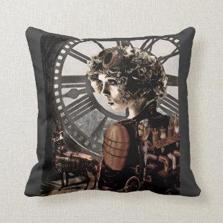 dark steampunk pillow