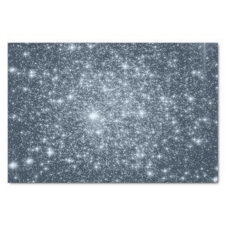 Dark Steel Blue Stars Tissue Paper