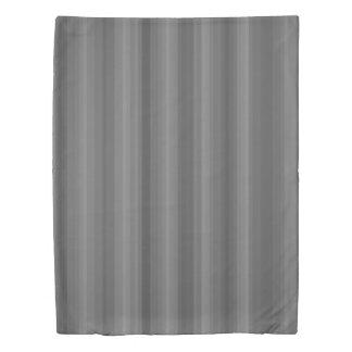 Dark Steel Gray Stripe Line Industrial Pattern Duvet Cover