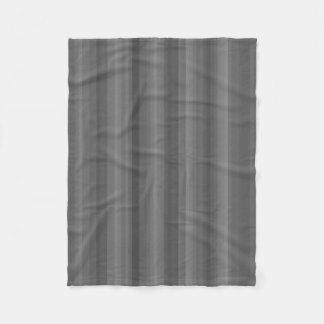 Dark Steel Gray Stripe Line Industrial Pattern Fleece Blanket
