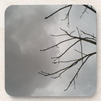 Dark Storm Clouds Beverage Coaster