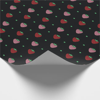 Dark Strawberry Wrapping Paper